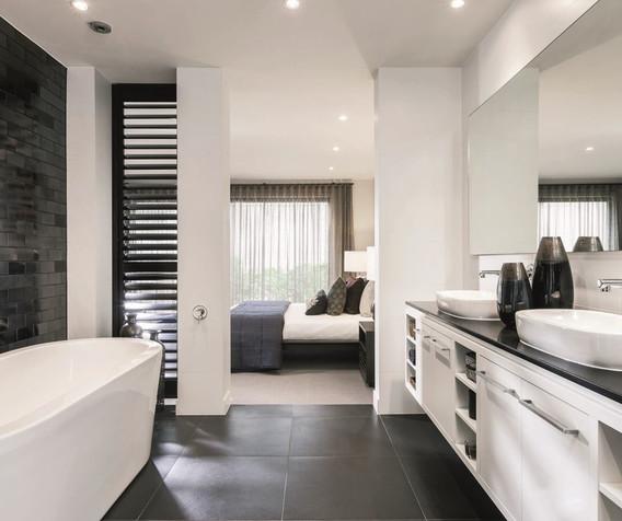 Vanity - C white and open - B black - to