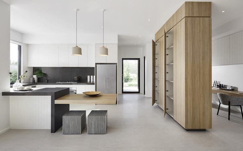 Kitchen - C white - B black - undermount