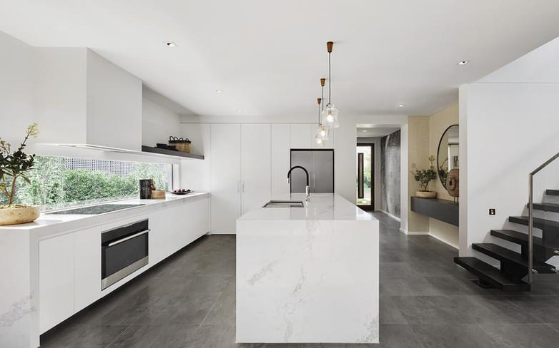 Kitchen - C white - B white double water