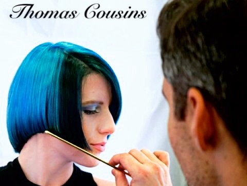 Thomas' blue haircolor model
