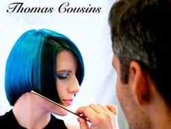 Thomas' blue haircolor model