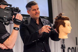 Thomas at hair show