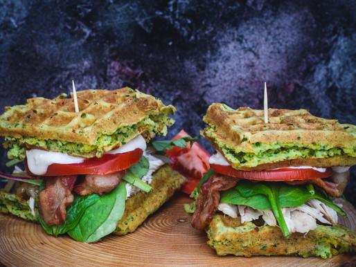 Kale Waffle Chicken Sliders