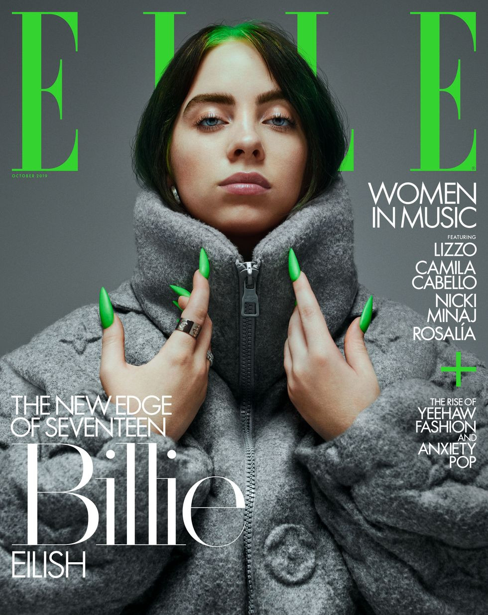 Billie Eilish cover assistant styled by Christina