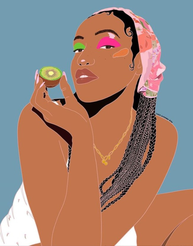 One of Tara's illustrations (@tarachandra_art)