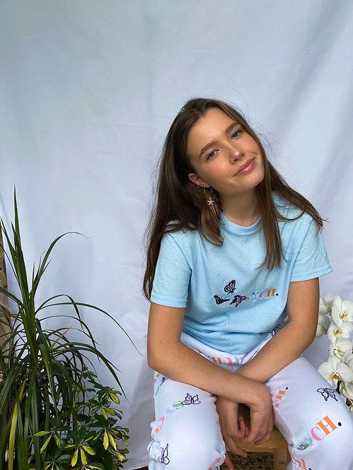 Light blue flutter logo shirt