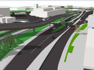 MetroBus bridge will accommodate future passenger rail services