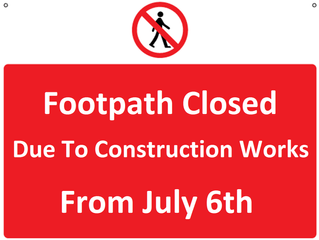 Footpath Closure