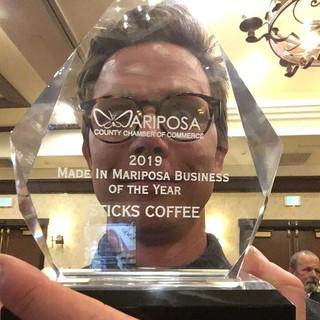 Zach Harrison, Sticks Coffee: Made in Mariposa Vendor of the Year