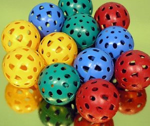 Teamster / perforated balls - set of 12