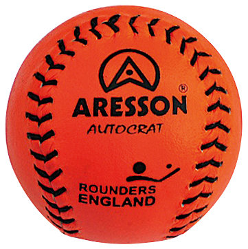 Leather Match Ball - orange or pink