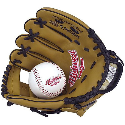 Midwest Baseball Glove and Ball
