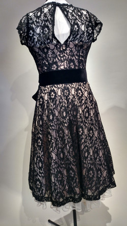 Lace over nude dress