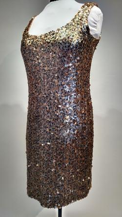 leopard sequin tank dress