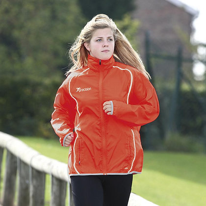Running Jacket - size 12 orange/silver