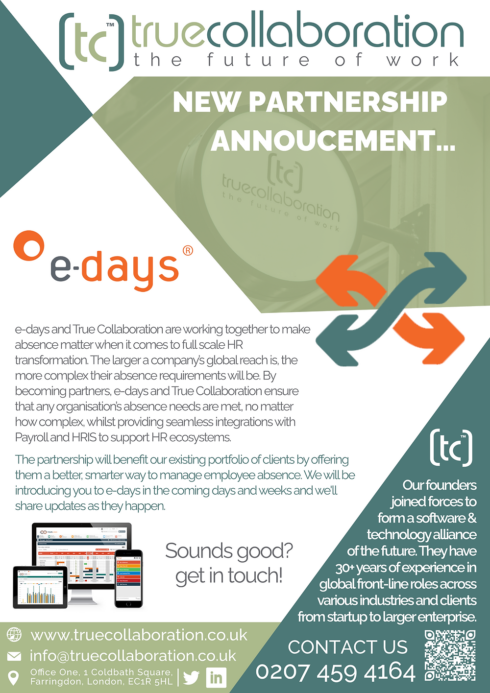 true collaboration and e-days absence management software