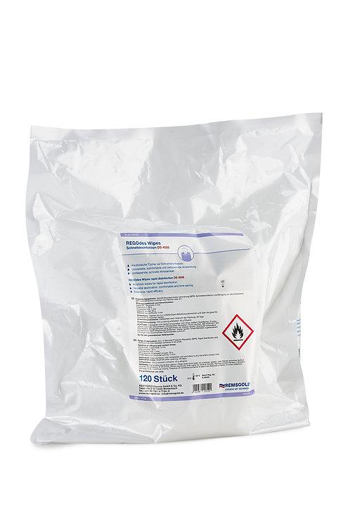 REGOdes Wipes DS 4008 Schnelldesinfektion Nachfülltücher // 120 Stk.