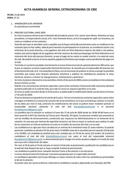 2. ACTA ASAMBLEA GENERAL EXTRAORDINARIA
