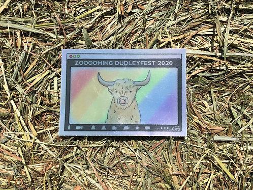DudleyFest Zooooming 2020 Hologram Sticker