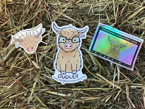 Dudley the Highland Bull Sticker Bundle