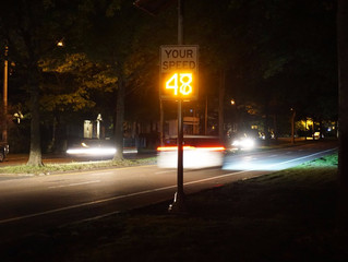 Driscoll Praises New Speed Signs in Milton