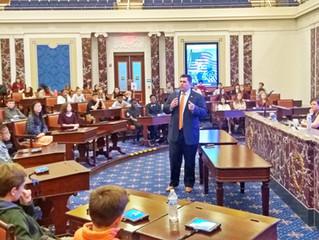 Representative Driscoll Addresses School Students From Milton