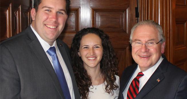Bill & Beca Driscoll with Speaker DeLeo