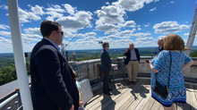 Rep. Driscoll Tours Blue Hill Observatory & Science Center