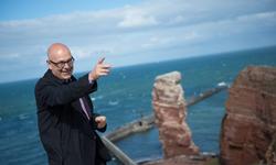 MP Albig auf Helgoland