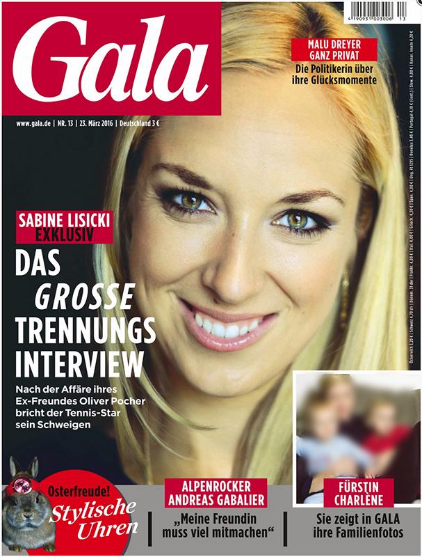 Titelfoto Gala - Sabine Lisicki