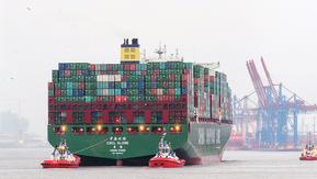 Größtes Schiff der Welt in Hamburg