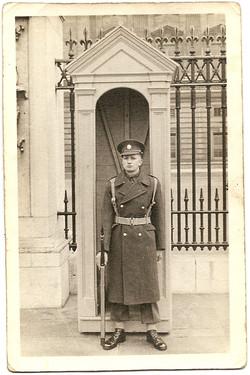 1947 Frank Poole On Guard at Buckingham Palace