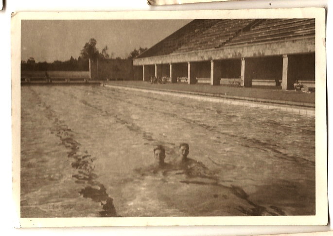1946 Frank at Berlin Olympic Stadium Swimming Pool