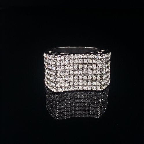 Sterling Silver Cubic Zirconium Cluster Ring