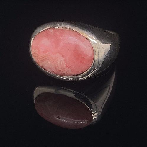 Sterling Silver Rhodochrosite Ring