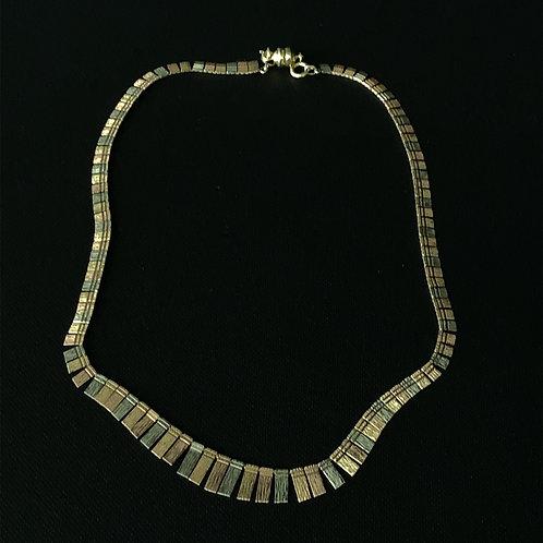 14k Tri Gold Designer Necklace