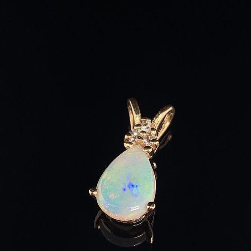 14k Yellow Gold Ethiopian Opal Charm