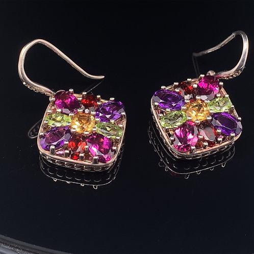 Slane and Slane Sterling Silver Multi Color Earrings