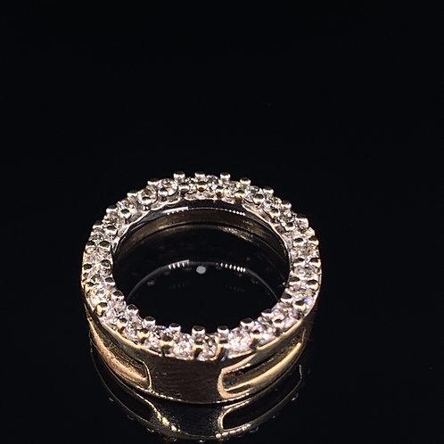 10k Yellow Gold Diamond Circle Charm