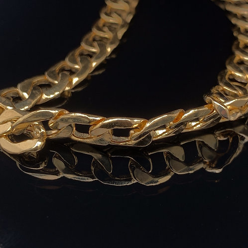 18k Yellow Gold Curb Link Bracelet