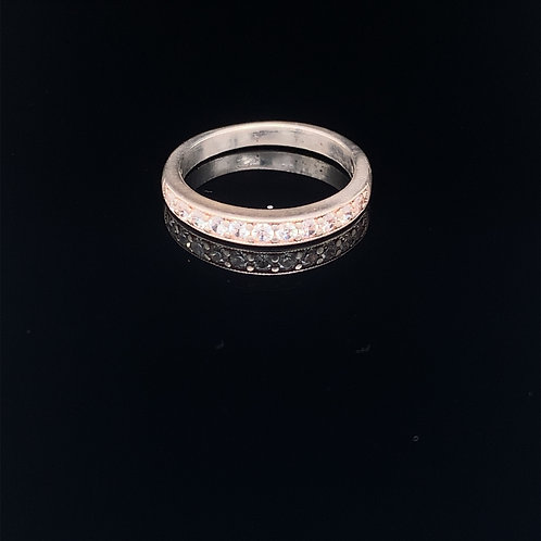Sterling Silver Cubic Zirconium Band