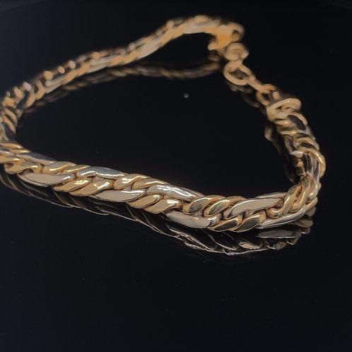 14k Yellow Gold Two tone Bracelet