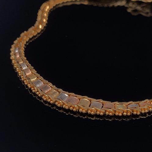14k Yellow Gold Tri Gold Bracelet