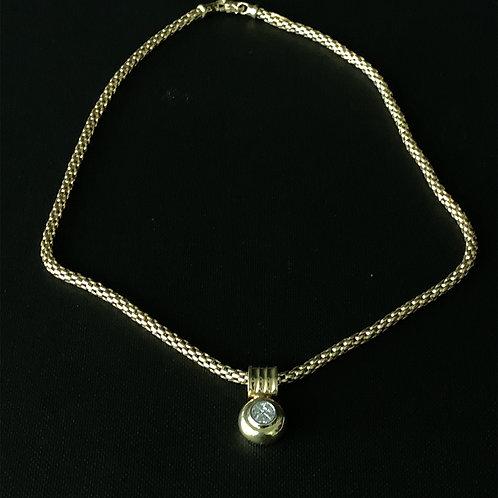 14k Yellow Gold Designer Diamond Necklace