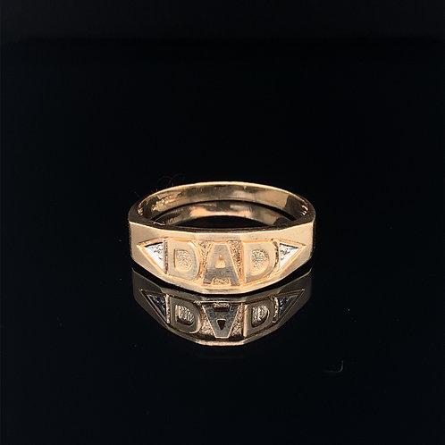 """10k Yellow Gold """"Dad"""" Ring"""