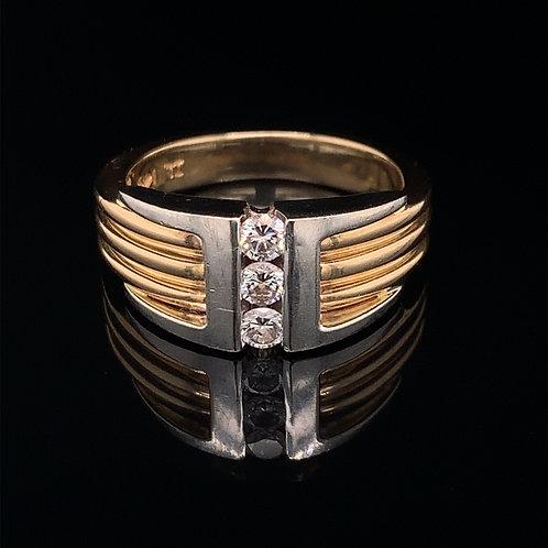 14k Yellow and White Gold Diamond Ring