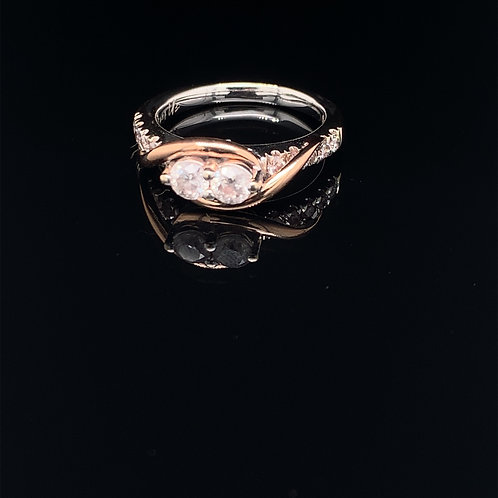 14k White/Yellow Gold Ever Us Engagement Ring