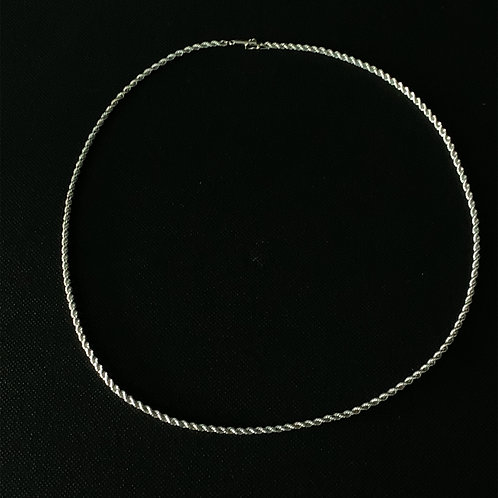 14k White Gold Rope Necklace