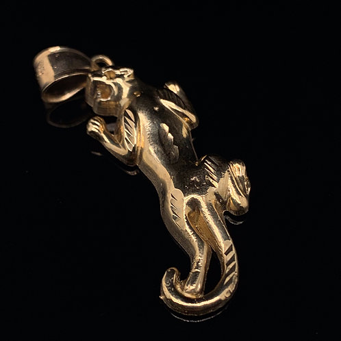 10k Yellow Gold Panther Charm