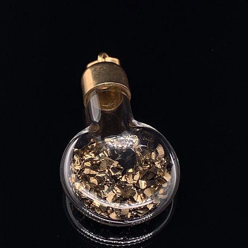 14k Yellow Gold Gold Flake Charm